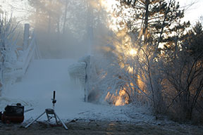 Sunrise on the snow maker