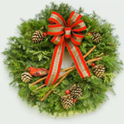 Live Country Corner Christmas Fancy Designer Wreath