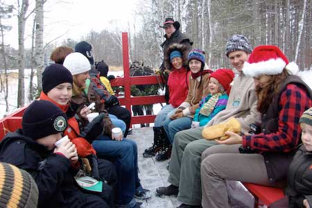 Group in Sleigh