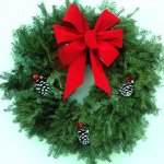 "Live 26"" Affordable Balsam Wreath"