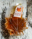 Half Pint of Maple Syrup in a Leaf Decanter