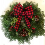 Live Cozy Northwoods Christmas Wreath