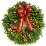 Fancy Country Corner Christmas Wreath