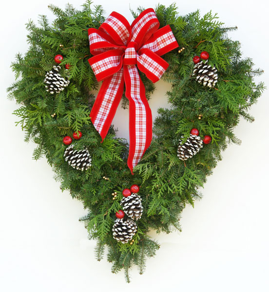 Fancy Designer Heart Wreath