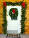 Garland and Wreath Door Decorations Set